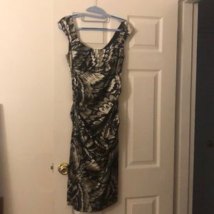Black / Grey midi dress
